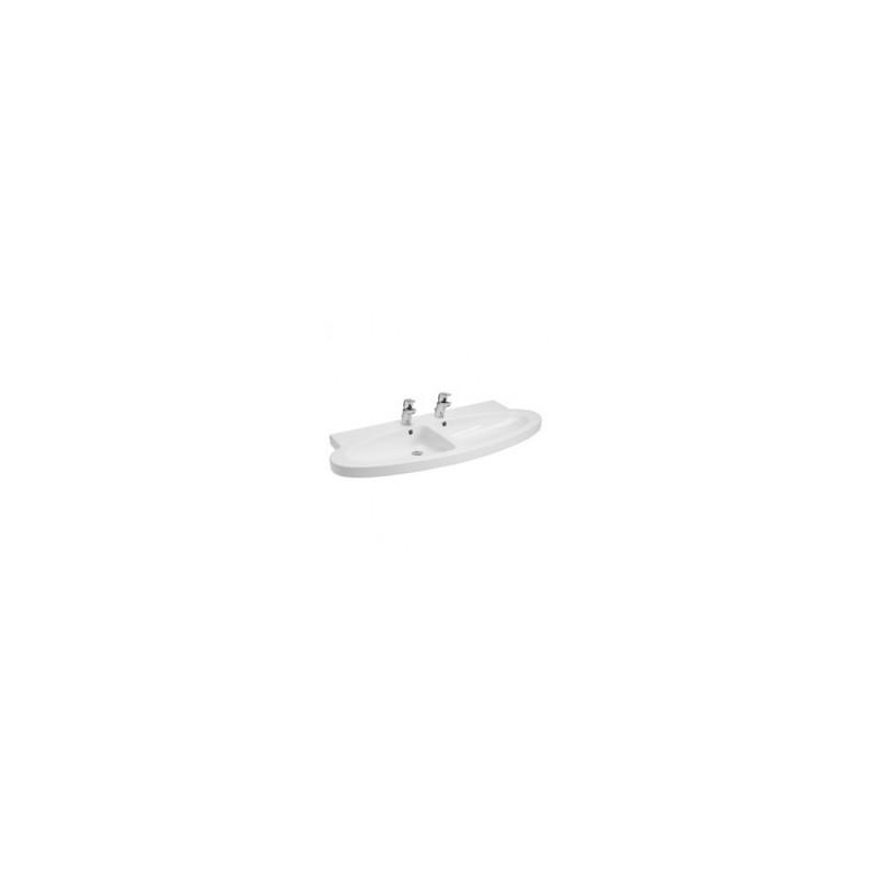 Double sink 130 game nau white fixation mark Unisan
