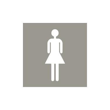 Pictograma para aseo femenino de acero inoxidable satinado