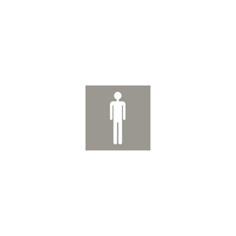 Pictograma para aseo masculino de acero inoxidable satinado