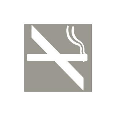 Pictograma de prohibición de fumar de acero inoxidable satinado