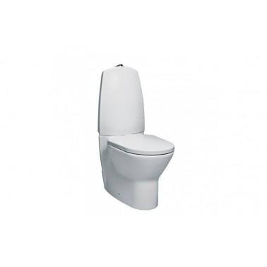 Inodoro cisterna baja sistema dual con codo y juego de fijación modelo Newday UNISAN