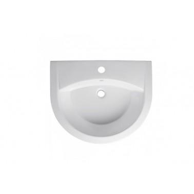 Lavabo 66 con juego de fijación en color blanco newday Unisan