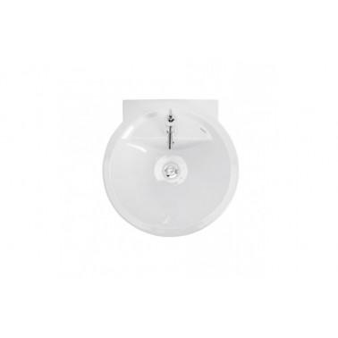 Lavabo 55 con juego de fijación en color blanco reflex Unisan