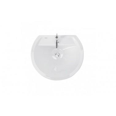 Lavabo 60 con juego de fijación en color blanco reflex Unisan