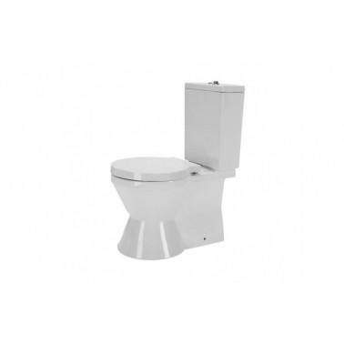 Inodoro cisterna baja s/dual con soporte para cisterna con codo y juego de fijación blanco reflex Unisan