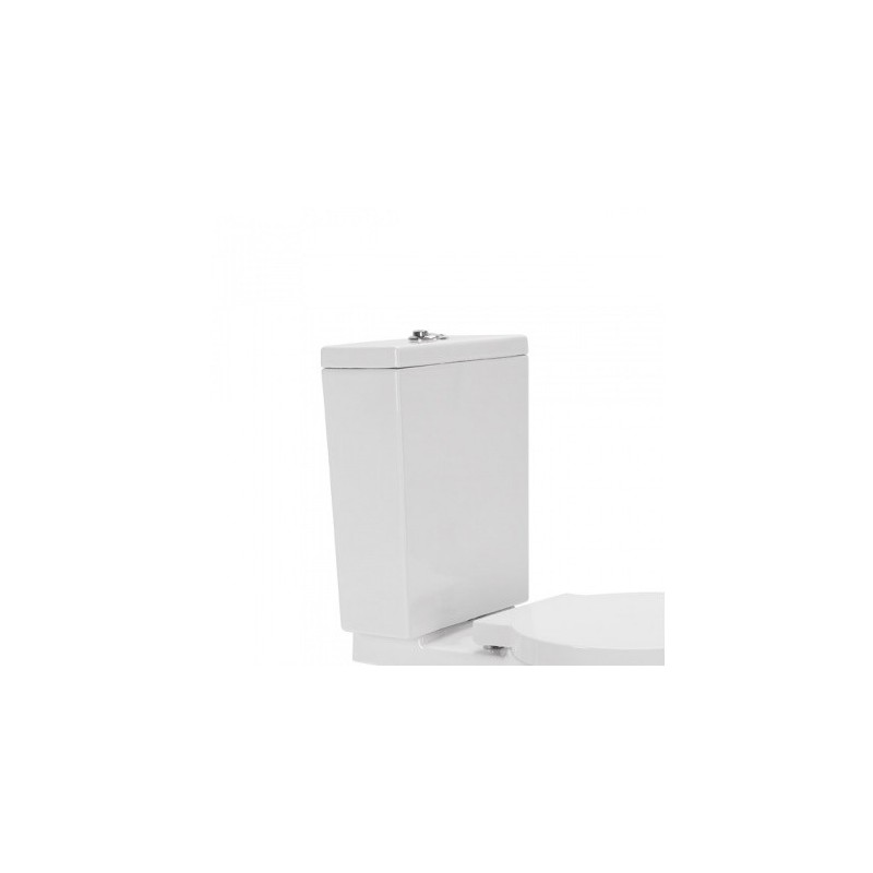 Cisterna baja con tapa y mecanismo doble descarga instalado alimentación superior pergamon reflex Unisan