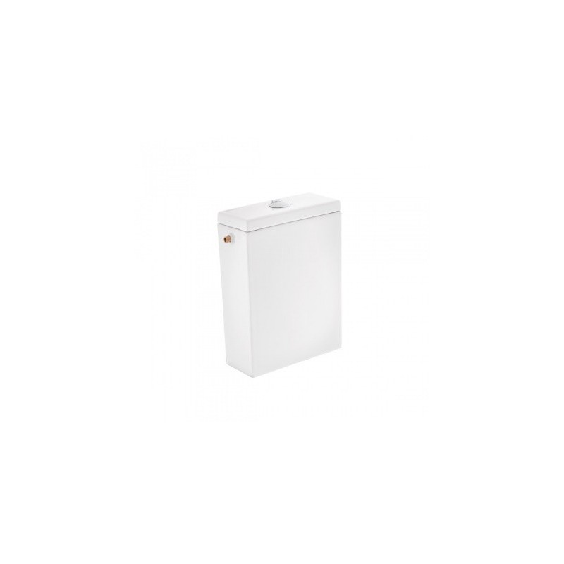 Cisterna baja con tapa y mecanismo doble descarga instalado [A/S] blanco alfa plus Unisan