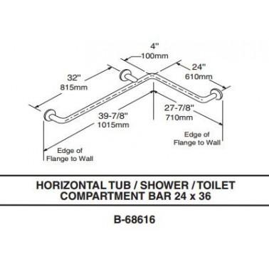 Barra de sujeciçon horizontal para dos paredes