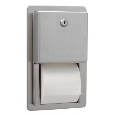Dispensador de papel higiénico doble encastrable serie Clásica