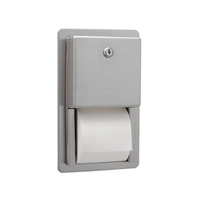 Dispensador de papel higiénico doble encastrable serie Clásica