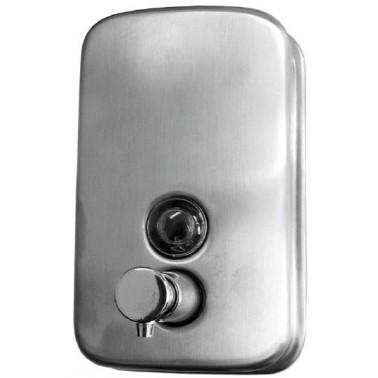 Dosificador de jabón fabricado en acero inoxidable AISI304 acabado satinado capacidad 1000ml