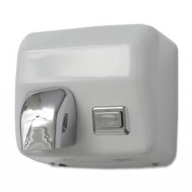 secador de manos de acero acabado epoxy blanco