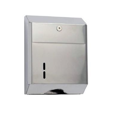Dispensador de papel toalla en acero 304 inox brillante