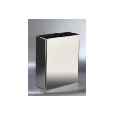 Papelera a pared de acero inox satinado 25 litros