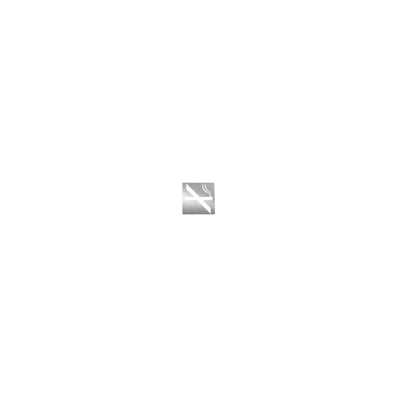 Pictograma prohibido fumar fabricado en acero inoxidable acabado satinado NOFER