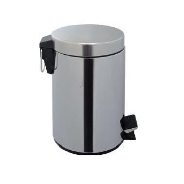 Cubo de pedal de acero inox brillo y 3 L de capacidad