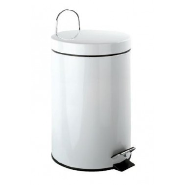 Cubo de pedal de acero inox blanco y 3 Litros