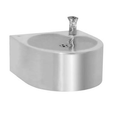 Fuente de agua fría mural de acero inox brillante
