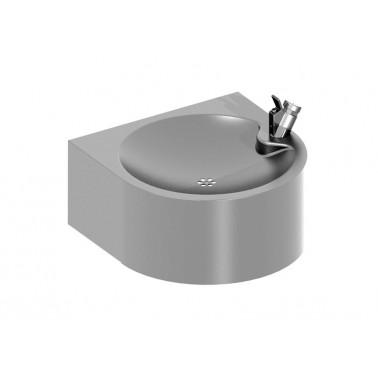 Fuente de agua fría mural en acero inox satinado