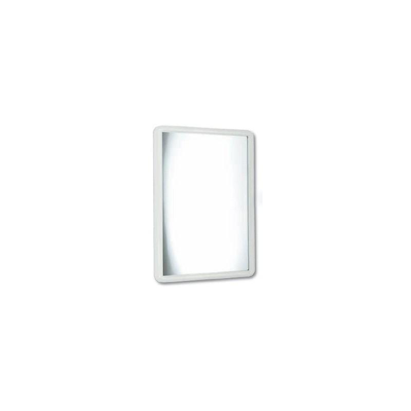 Espejo con marco de ABS blanco