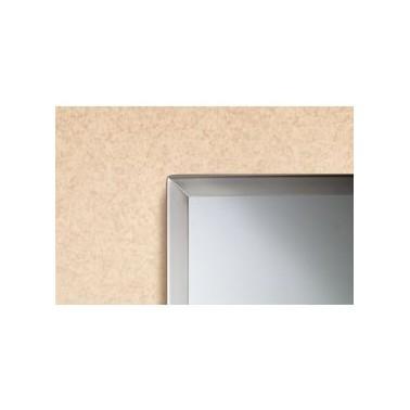 Espejo con marco acanalado de acero inox brillo