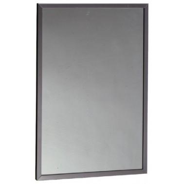 Espejo con marco acanalado de vidrio templado