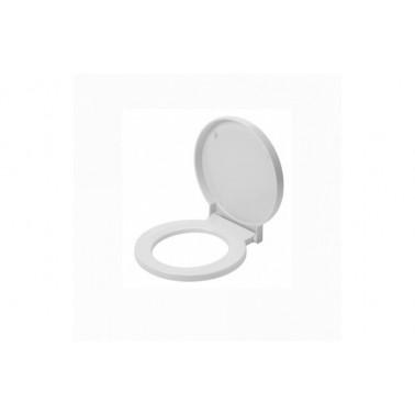 Asiento y tapa para inodoro Reflex de duroplast en color blanco Unisan