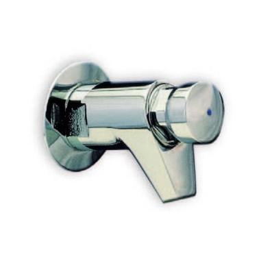 Grifo temporizado para lavabo mural ARU con sistema de pulsación suave