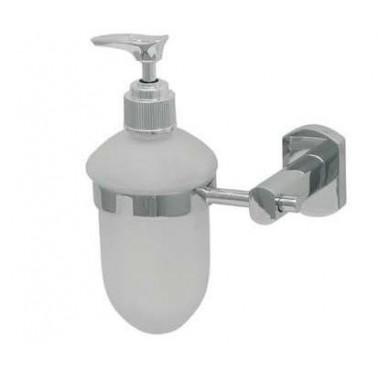 Dosificador de jabón líquido fabricado en latón cromado Komercia
