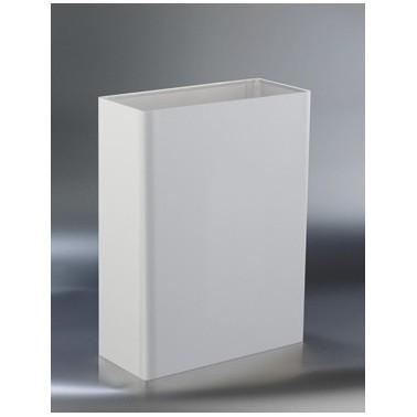 Papelera de acero inoxidable blanca de 25 l de capacidad