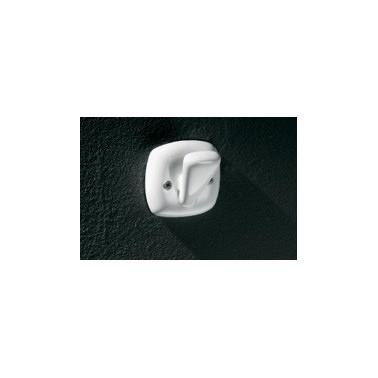 Percha sencilla fabricada en porcelana vitrificada blanca