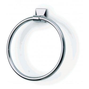 Toallero aro de 17cm de diametro serie 900 fabricado en acero cromado acabado color Komercia