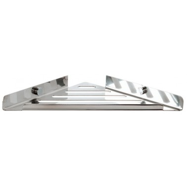 Esponjera triangular de acero inoxidable brillante
