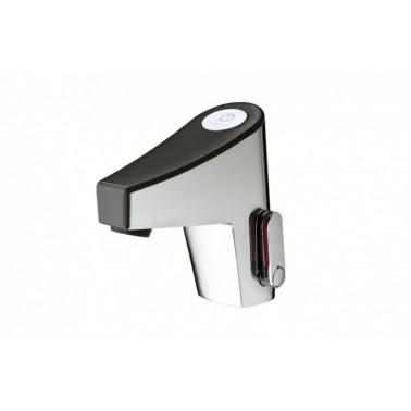 Grifo electrónico para lavabo color negro mezclador con Transformador NEW TOUCH-LM PRESTO