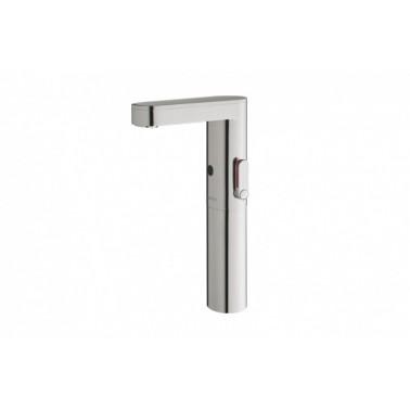 Grifo electrónico para lavabo mezclador con pila Soho-LM con caño alto PRESTO