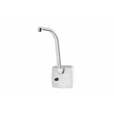 Grifo electrónico empotrado para lavabo con caño alto de cromo mate con Pila 5520 PRESTO