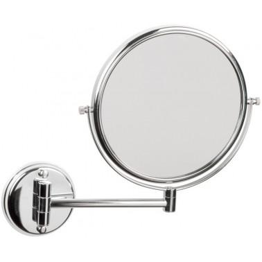 Espejo de aumento articulado cromado brillante