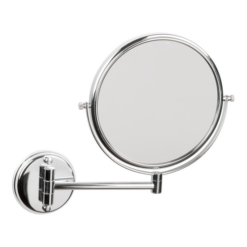 Espejo de aumento dos caras acero inox brillo