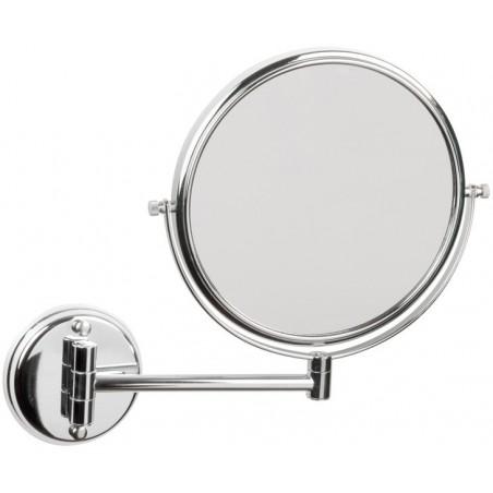 Espejo de aumento dos caras fabricado en acero inoxidable acabado brillante Komercia