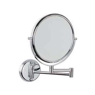 Espejo de aumento brazo con doble articulación y dos caras acero inox brillo