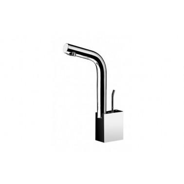Grifo monomando W|CA de lavabo con caño alto y válvula Tic-Tac Unisan