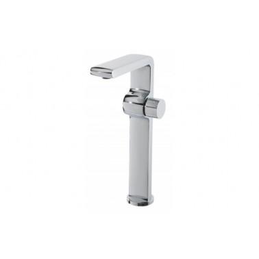 Grifo monomando de lavabo STATUS con caño alto con válvula automática Unisan