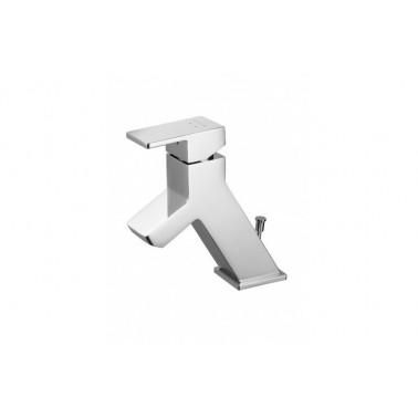Grifo monomando de lavabo STEP con válvula automática Unisan
