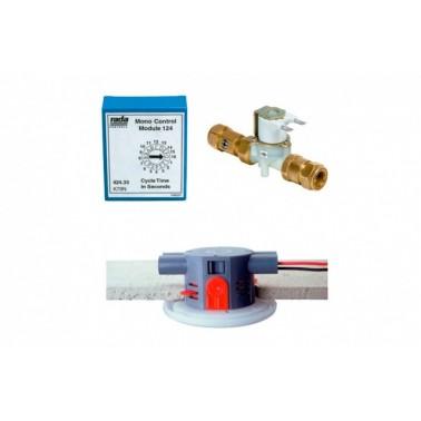 Sistema electrónico empotrado para urinario individual Rada monocontrol 125 PRESTO