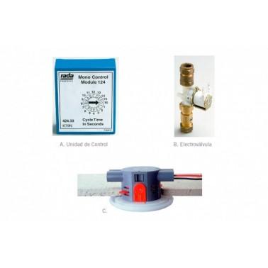 Sistema electrónico empotrado para conjunto de urinarios Rada monocontrol 126 PRESTO