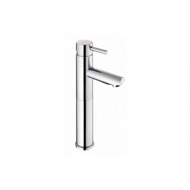 Grifo monomando de lavabo ÍCONE con caño alto sin válvula automática cromo Unisan