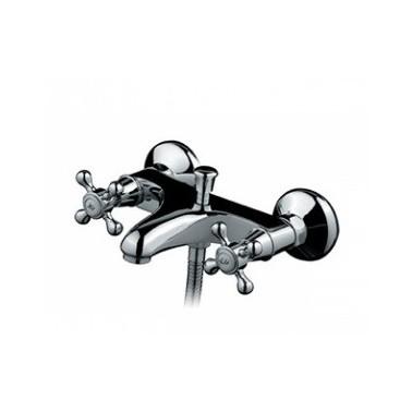 Grifo monobloc baño-ducha ACRÓPOLE montura cerámica, mano-ducha y soporte Unisan