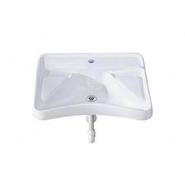 Lavabo ergonómico de minusválidos con ménsula fija y con grifo incluido Presto
