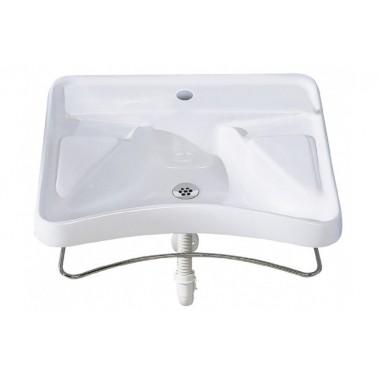 Lavabo ergonómico de minusválidos con ménsula neumática y con grifo incluido Presto