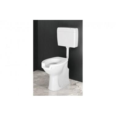 Inodoro ergonómico con cisterna, asiento y tapa con apertura frontal Presto